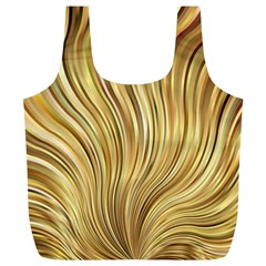 Gold Stripes Festive Flowing Flame  Full Print Recycle Bags (l)  by yoursparklingshop