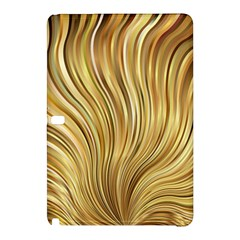 Gold Stripes Festive Flowing Flame  Samsung Galaxy Tab Pro 10 1 Hardshell Case by yoursparklingshop
