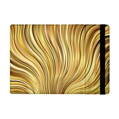 Gold Stripes Festive Flowing Flame  Ipad Mini 2 Flip Cases by yoursparklingshop
