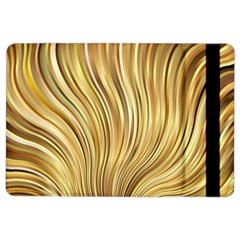 Gold Stripes Festive Flowing Flame  Ipad Air 2 Flip by yoursparklingshop