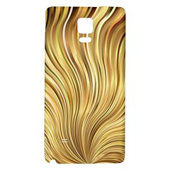 Gold Stripes Festive Flowing Flame  Galaxy Note 4 Back Case by yoursparklingshop