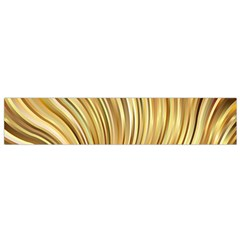 Gold Stripes Festive Flowing Flame  Flano Scarf (small) by yoursparklingshop