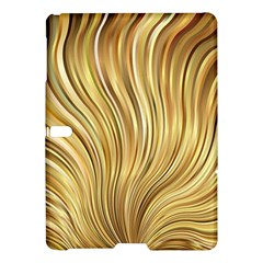 Gold Stripes Festive Flowing Flame  Samsung Galaxy Tab S (10 5 ) Hardshell Case  by yoursparklingshop