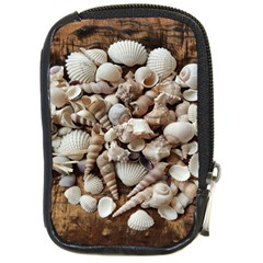 Tropical Sea Shells Collection, Copper Background Compact Camera Cases by yoursparklingshop