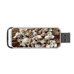 Tropical Sea Shells Collection, Copper Background Portable Usb Flash (one Side)
