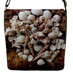 Tropical Sea Shells Collection, Copper Background Flap Messenger Bag (s) by yoursparklingshop
