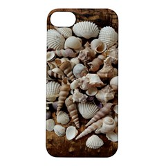 Tropical Sea Shells Collection, Copper Background Apple Iphone 5s/ Se Hardshell Case by yoursparklingshop