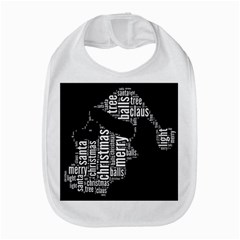Funny Santa Black And White Typography Bib by yoursparklingshop