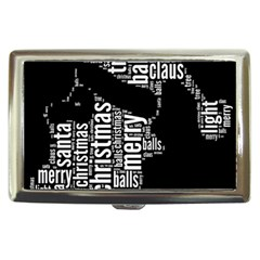 Funny Santa Black And White Typography Cigarette Money Cases by yoursparklingshop