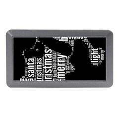 Funny Santa Black And White Typography Memory Card Reader (mini) by yoursparklingshop