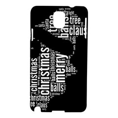 Funny Santa Black And White Typography Samsung Galaxy Note 3 N9005 Hardshell Case by yoursparklingshop