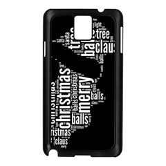 Funny Santa Black And White Typography Samsung Galaxy Note 3 N9005 Case (black) by yoursparklingshop