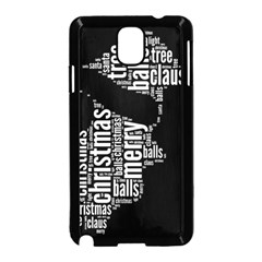 Funny Santa Black And White Typography Samsung Galaxy Note 3 Neo Hardshell Case (black) by yoursparklingshop