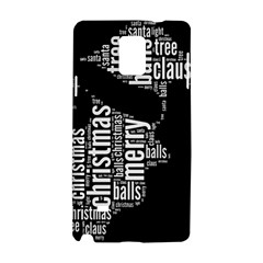 Funny Santa Black And White Typography Samsung Galaxy Note 4 Hardshell Case by yoursparklingshop