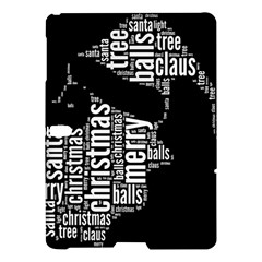 Funny Santa Black And White Typography Samsung Galaxy Tab S (10 5 ) Hardshell Case  by yoursparklingshop