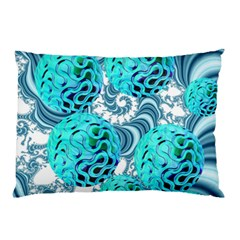 Teal Sea Forest, Abstract Underwater Ocean Pillow Case (two Sides) by DianeClancy