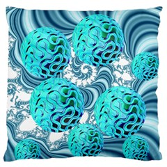Teal Sea Forest, Abstract Underwater Ocean Standard Flano Cushion Case (two Sides) by DianeClancy