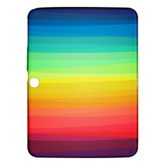 Sweet Colored Stripes Background Samsung Galaxy Tab 3 (10 1 ) P5200 Hardshell Case  by TastefulDesigns