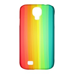Sweet Colored Stripes Background Samsung Galaxy S4 Classic Hardshell Case (pc+silicone) by TastefulDesigns