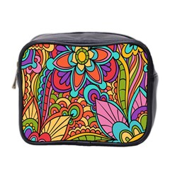 Festive Colorful Ornamental Background Mini Toiletries Bag 2 Side by TastefulDesigns