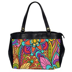 Festive Colorful Ornamental Background Office Handbags (2 Sides)  by TastefulDesigns