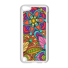 Festive Colorful Ornamental Background Apple Ipod Touch 5 Case (white) by TastefulDesigns