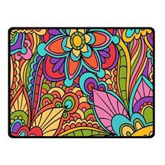 Festive Colorful Ornamental Background Double Sided Fleece Blanket (small)