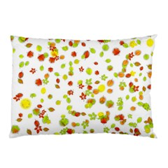 Colorful Fall Leaves Background Pillow Case by TastefulDesigns