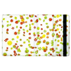 Colorful Fall Leaves Background Apple Ipad 2 Flip Case by TastefulDesigns