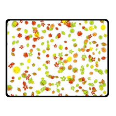 Colorful Fall Leaves Background Double Sided Fleece Blanket (small)  by TastefulDesigns