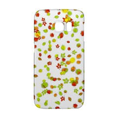 Colorful Fall Leaves Background Galaxy S6 Edge by TastefulDesigns