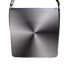 Shiny Metallic Silver Flap Messenger Bag (l)  by yoursparklingshop
