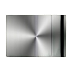 Shiny Metallic Silver Ipad Mini 2 Flip Cases by yoursparklingshop