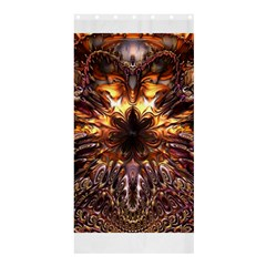 Golden Metallic Abstract Flower Shower Curtain 36  X 72  (stall)  by CrypticFragmentsDesign