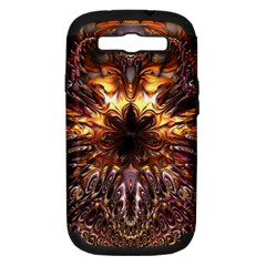 Golden Metallic Abstract Flower Samsung Galaxy S Iii Hardshell Case (pc+silicone)