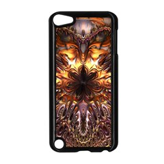 Golden Metallic Abstract Flower Apple Ipod Touch 5 Case (black) by CrypticFragmentsDesign