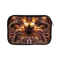 Golden Metallic Abstract Flower Apple Ipad Mini Zipper Cases