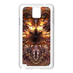 Golden Metallic Abstract Flower Samsung Galaxy Note 3 N9005 Case (white)
