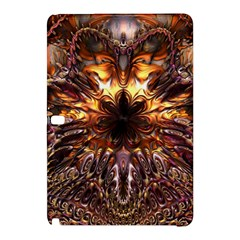 Golden Metallic Abstract Flower Samsung Galaxy Tab Pro 10 1 Hardshell Case by CrypticFragmentsDesign