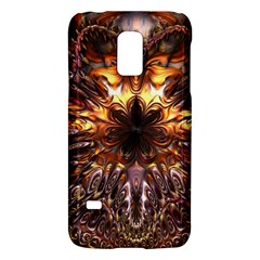 Golden Metallic Abstract Flower Galaxy S5 Mini
