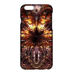 Golden Metallic Abstract Flower Apple Iphone 6 Plus/6s Plus Hardshell Case by CrypticFragmentsDesign