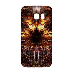 Golden Metallic Abstract Flower Galaxy S6 Edge by CrypticFragmentsDesign