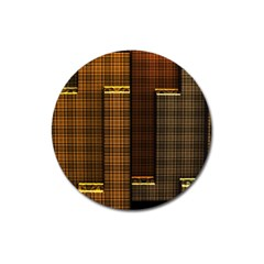 Metallic Geometric Abstract Urban Industrial Futuristic Modern Digital Art Magnet 3  (round) by CrypticFragmentsDesign
