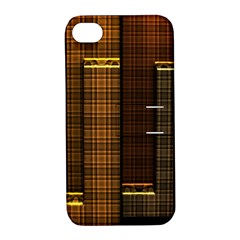 Metallic Geometric Abstract Urban Industrial Futuristic Modern Digital Art Apple Iphone 4/4s Hardshell Case With Stand
