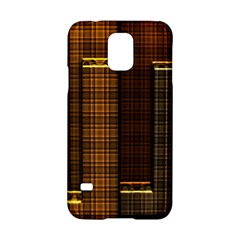Metallic Geometric Abstract Urban Industrial Futuristic Modern Digital Art Samsung Galaxy S5 Hardshell Case