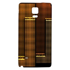 Metallic Geometric Abstract Urban Industrial Futuristic Modern Digital Art Galaxy Note 4 Back Case