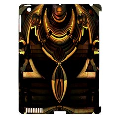 Golden Metallic Geometric Abstract Modern Art Apple Ipad 3/4 Hardshell Case (compatible With Smart Cover) by CrypticFragmentsDesign