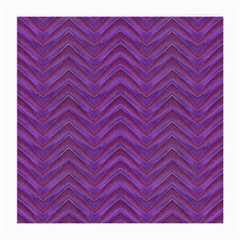Grunge Chevron Style Medium Glasses Cloth (2-side) by dflcprints