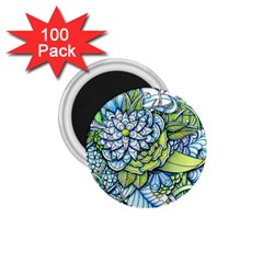Peaceful Flower Garden 1 1 75  Magnet (100 Pack)  by Zandiepants