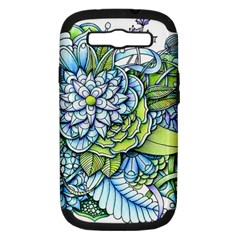 Peaceful Flower Garden 1 Samsung Galaxy S Iii Hardshell Case (pc+silicone) by Zandiepants